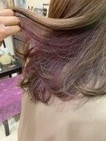 マイ ヘア デザイン(MY hair design)パープルチラ見えカラー