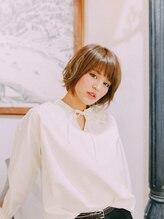 美容室 フラワー 平井店(flower)マッシュボブ×ベージュカラー【平井】