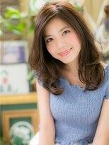 カバーヘア ブリス 北浦和西口店(COVER HAIR bliss)*+COVER HAIR+*…くびれカールの抜け感セミディat