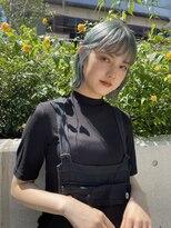 デコ(DECO)《RYUSEI》くすみブルー/ダブルカラー/髪質改善/ミントグリーン