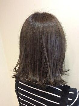 アムズヘアー 本厚木店(AM'S HAIR)の写真/人気のスロウカラーで外国人のような透明感×ツヤ感を叶えてくれる♪色味のご提案もお任せください!