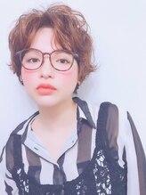 ロアークヘアー(LOARK HAIR)【LOARK】クルクル♪外ハネパーマのハイトーンオレンジ☆