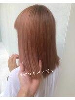 ラノバイヘアー(Lano by HAIR)【lano by hair 銀座】 ピンクオレンジカラー