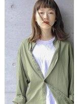 ネイヴィル(navile)☆透明感ケアカラー×切りっぱなしボブ☆【navile大河光太朗】