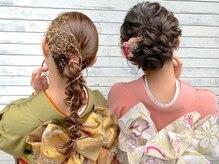 ヘアセットアンドメイクアップ シュシュ(Hair set&Make up chouchou)の雰囲気(平日、土日祝日ともに着付け予約受付中!!※要予約)