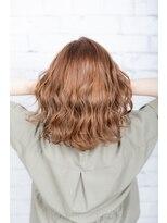 ヘアーメイク ダンス(hair make DANCE)15センチカット セミディスタイル エドルカラーで明るめに!