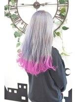 ヘアーサロン エール 原宿(hair salon ailes)(ailes 原宿)style423 ラベンダーグレー×マゼンタピンク