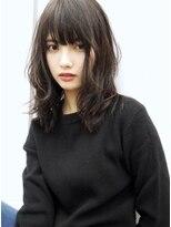 ☆blues style 36 大人かわいいチュールバング♪暗髪