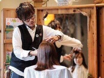 イグルー(iglu)の写真/【中崎町すぐ】人柄温かく、技術は職人肌のオーナーstylist。マンツーマンでデザイン×実用性高いヘアに♪