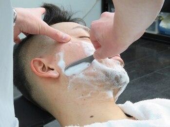 ヘアーサロン ファイン(Hair Salon FINE)の写真/【東広島】男を磨くクーポンあり♪シェービングはもちろん、眉カットや鼻毛ケアまでおまかせ。