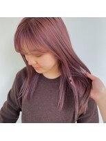 ヘアーアイストゥーレ(HAIR ICI TRE)春ピンクベージュカラー