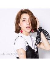 エール 梅田(aile Total Beauty Salon)セミウェット外ハネロブstyle