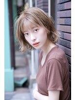 アルマヘア(Alma hair)セミウェットウェーブ☆ハニーベージュエアリーミディ