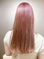 ピエドプールポッシュ(PiED DE POULE POCHE)ピンクカラー×ストレートロング
