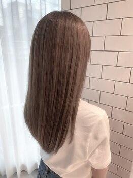 チャオ バイ ミチ(Chao by MICHI)の写真/自然なストレートを叶えるオリジナル髪質改善トリートメントが人気☆潤いある艶髪を叶えてくれる…*