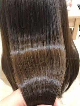 エムアンドスマート 千葉店(M&SMART)の写真/通うたびに潤い、つやのある綺麗な髪に!【アクアミネラル】が髪にしっかり浸透し健康的な状態に導く♪
