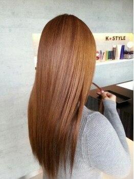 ケースタイル(K STYLE)の写真/やわらかなストレートヘアでモテ髪GET♪髪への負担を考えた施術でサラツヤ質感が叶う☆