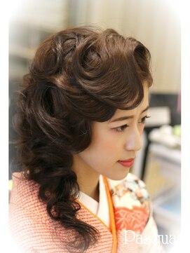 ヘアセットサロン パスクア(Hair Set Salon Pasqua) 大正ロマン風ヘアスタイル
