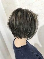 ショートボブ☆ハイライト3Dカラー【Alma hair】
