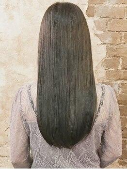 """マギーヘア(magiy hair)の写真/縮毛矯正もプチプラながら、専門店にも負けない薬剤へのこだわり☆とにかく""""ダメージレス""""なんですっ!"""