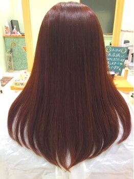 ヘアー メイク フィールド(Hair Make Field)の写真/低刺激で髪・頭皮に優しい♪クーポン利用でどなたでも【カット+カラー¥8640→¥6480☆】