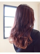 テオ ヘア(teo hair)ピンク×バレイヤージュ