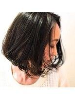 サロンズヘアー 野間店(SALONS HAIR)大人かわいい暗髪切りっぱなしボブ