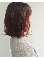 ヘアメイク オブジェ(hair make objet)オレンジインナーカラー KAI
