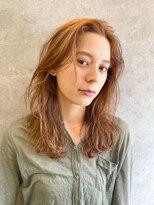 エイチスタンド 渋谷(H.STAND)耳かけ/フォギーベージュ/デザインカラー/スリークボブ/髪質改善