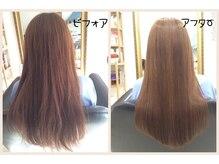髪質改善ヘアエステサロン レモネード(LEMONed)の雰囲気(【髪質改善ヘアエステの仕上がり】繰り返すとあの頃の様に!)