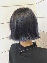 【Neolive & 渋谷店】ネイビーブルーカラーボブ