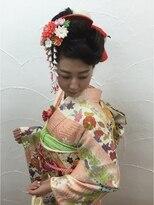 ビューティーコレクション 静岡北店成人式ヘアセット 古典アレンジ風