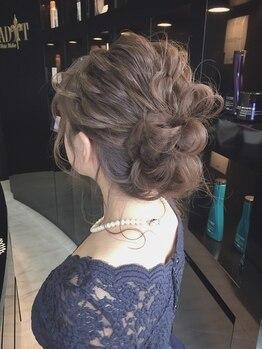 アディクト ヘアメイク(ADDICT Hair Make)の写真/結婚式やパーティーなどの華やかなSET&MAKEはアディクトにお任せ!最も輝きたいと願う瞬間を演出☆