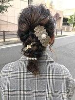 デコヘアー キートス(DECO HAIR kiitos)ロープ編みの編みおろしアレンジ