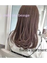 ファイブボックスヘアー 広島(five vox hair)大人可愛い ミルクティーベージュ