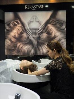 アディクト ヘアメイク(ADDICT Hair Make)の写真/髪を最も魅力的に輝かせるケラスターゼの至高ヘッドスパをぜひお試し下さい。疲れを癒すリラックス空間♪
