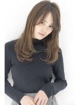 エアーオオサカ(air-OSAKA)☆air-OSAKA☆栃本優美☆ワンカールセミディ☆アッシュブラウン