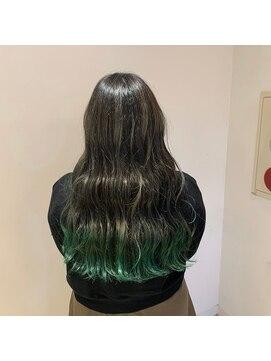 ネオヘアー 曳舟店(NEO Hair)ミントグリーン裾カラー☆(曳舟)