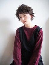 シーヘアデザイン(SHE.hair design)ラフショート×透け感カラー