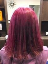 ヘアーメイク プリュム(Hair make Plume)ビビットピンク