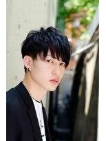 ミンクス ハラジュク(MINX harajuku)ツーブロックショートスタイル 男性黒髪 ネープレス 韓流