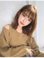 ガーデン アオヤマ(GARDEN aoyama)豊田楓 外ハネボブ ミディアム ことりベージュ 大人かわいい