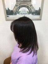 ヘアメイク スコア(Hair Make S CORE)艶感が決め手のセミロングスタイル