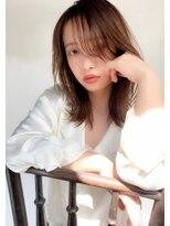 ミンクス 青山店(MINX)くびれレイヤーミディアム #前髪 #ラベンダーカラー #イメチェン