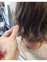ヘアーアンドネイルアンカーバイラフ(Hair & Nail anchor by Laf)色っぽボブの柔らかとろみシアグレージュ☆