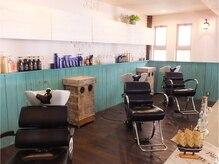 トルチェ(toRtue)の雰囲気(癒しの場♪ここでお客様の髪の毛を丁寧にシャンプーします♪)