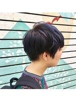 ミッカ(micca)【micca下北沢】刈り上げショート×ブルーラッシュカラー