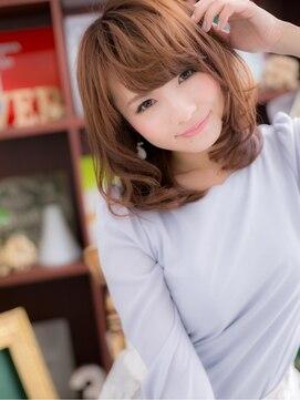 カバーヘア ブリス 上尾店(COVER HAIR bliss)*+COVER HAIR+*…くびれカールの技あり!セミディa