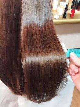 エス ヘア&ヒーリング(S hair&healing)の写真/痛んだ髪ほど効果が分かる髪質改善【トリートメントストレート】を導入☆自慢したくなるサラツヤ髪が続く♪