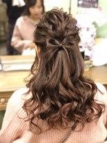 ヘアセットサロン アトリエ チャイ(Hair set salon atelier CHAI)ハーフアップ
